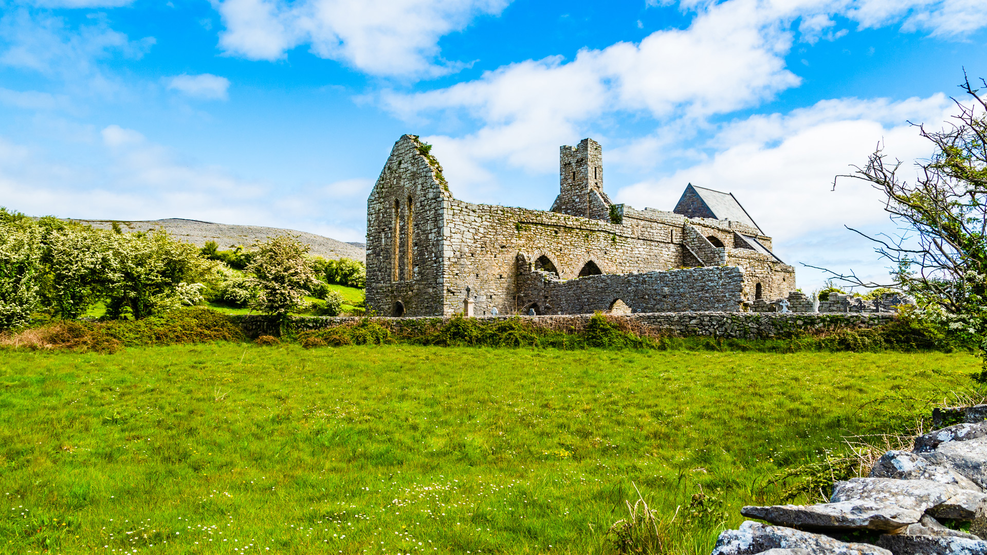 church ruins in County Clare