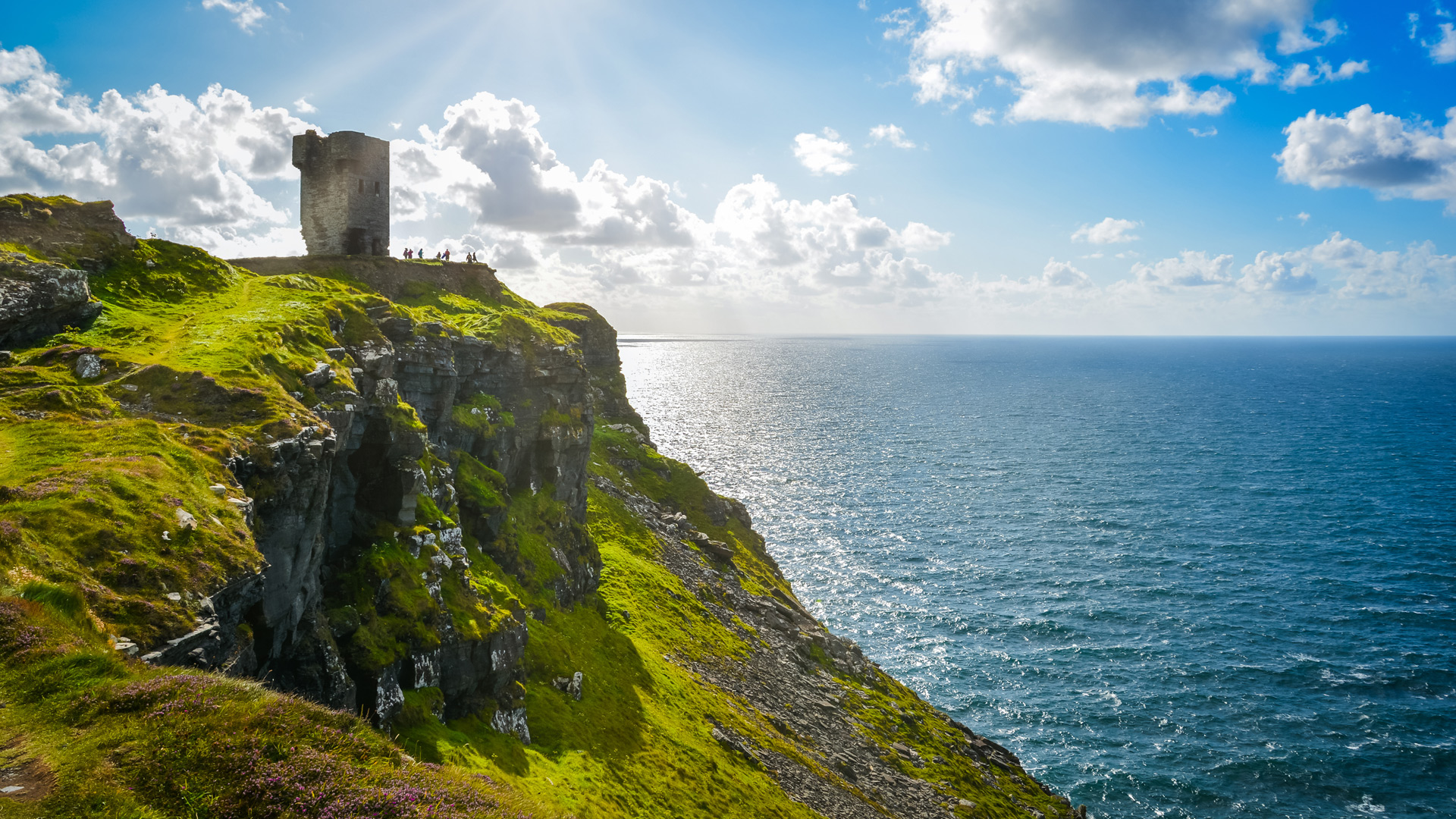 cliffs and ruins in County Clare