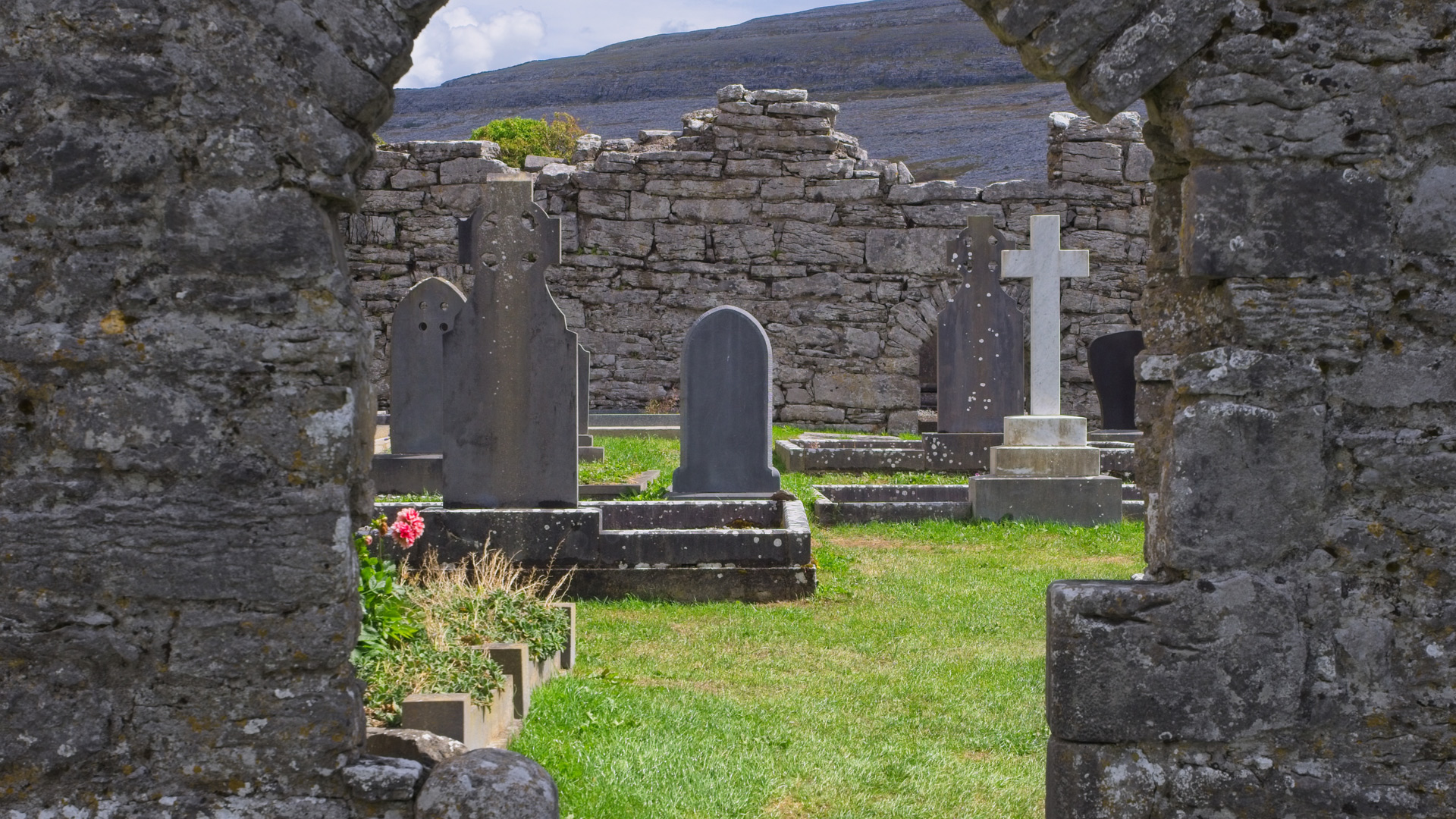 parish graveyard in County Clare