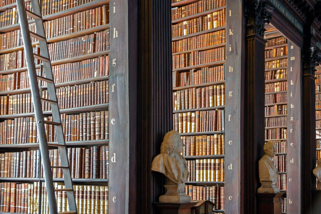 Trinity Library, home of the Book of Kells